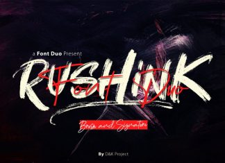 Rushink Brush Font