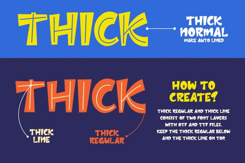 Thick Font