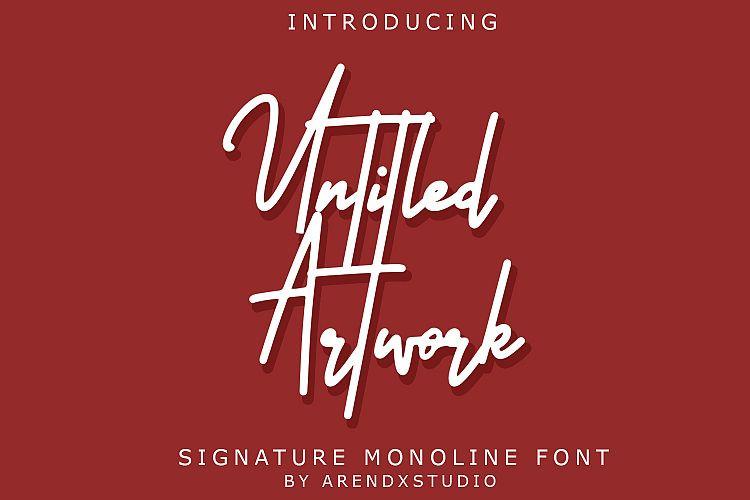 Untitled Artwork Signature Font