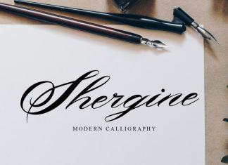 Shergine Calligraphy Font