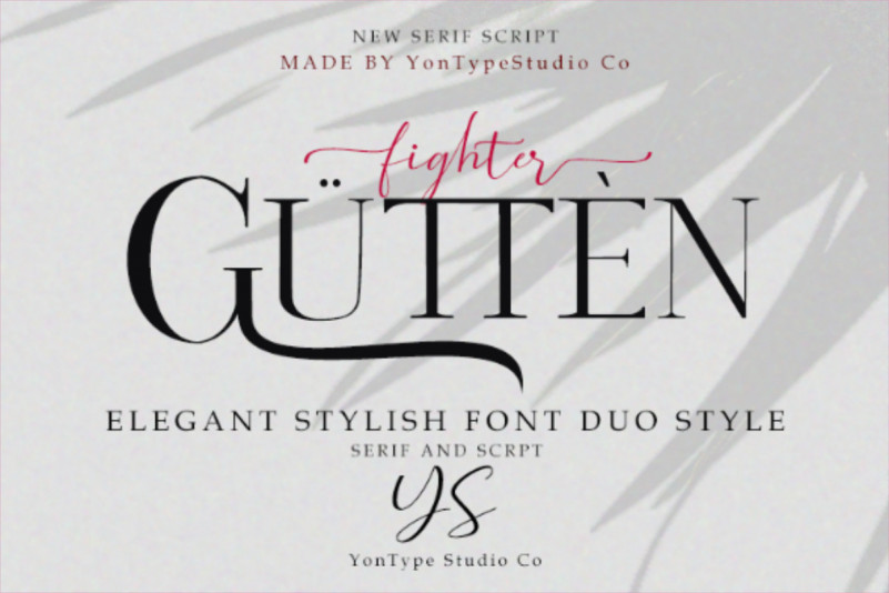 Gutten Fighter Font Duo