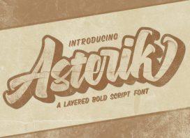 Asterik Layered Script Font