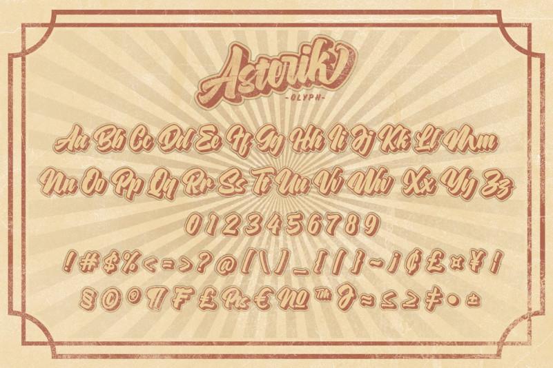 Asterik Layered Font