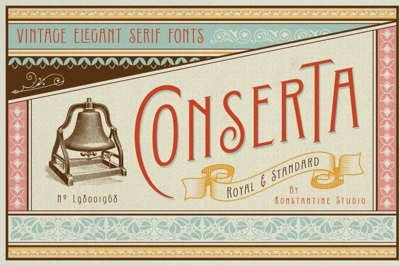Conserta Vintage Display Font