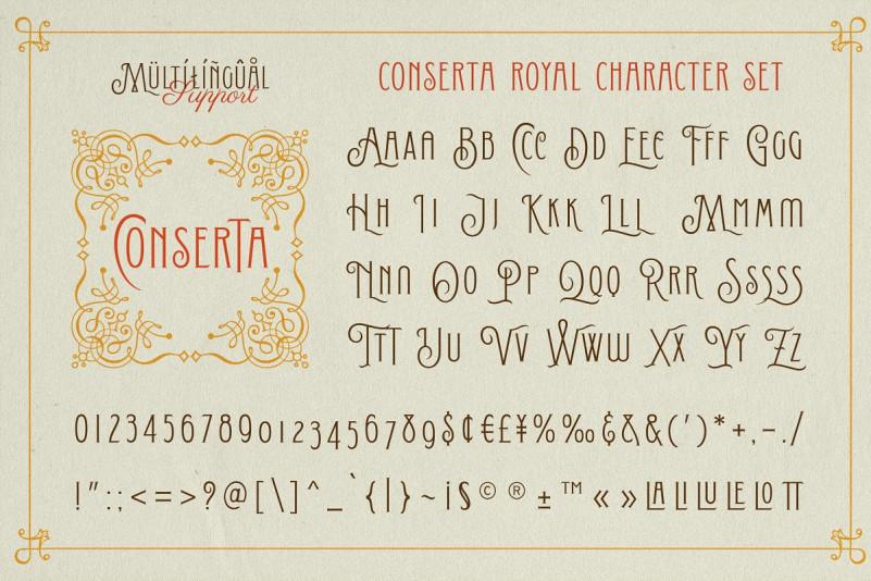 Conserta Vintage Font