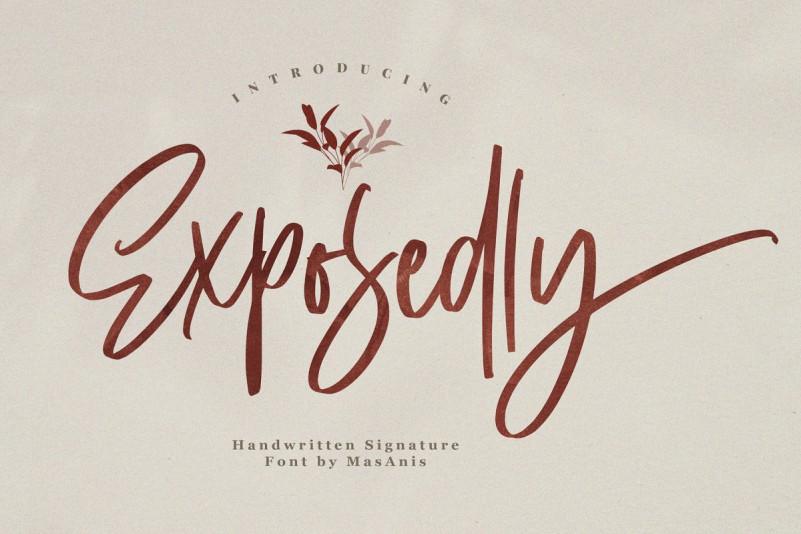 Exposedly Signature Script Font
