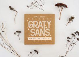 Graty Sans Free Font