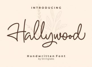 Hallywood Handwritten Font