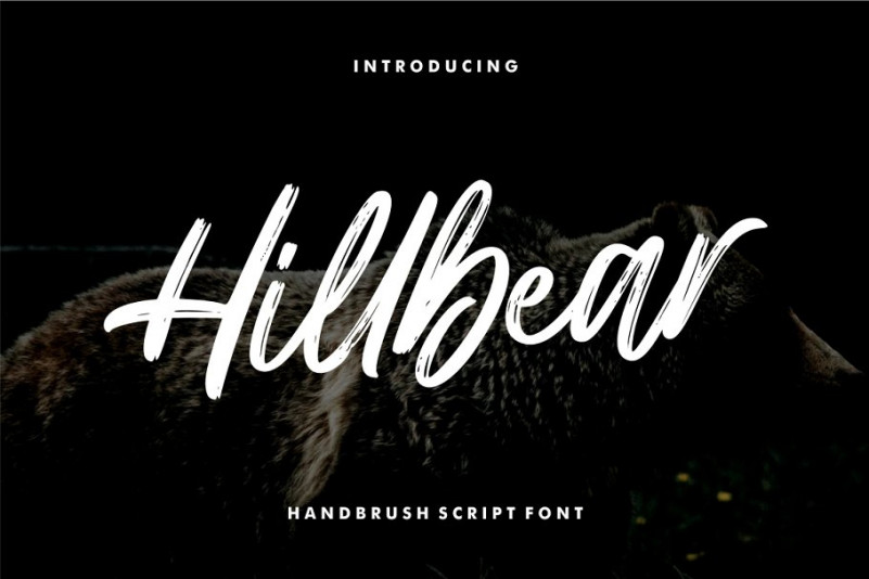 Hillbear Brush Font