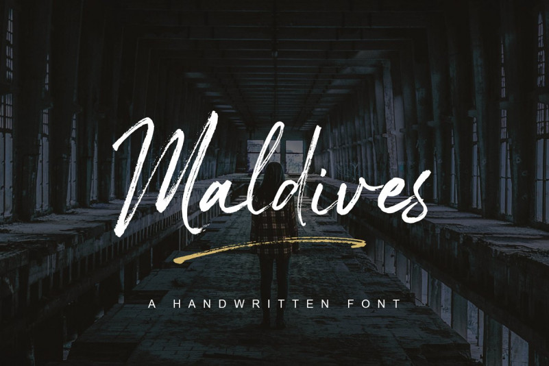 Maldives Brush Font