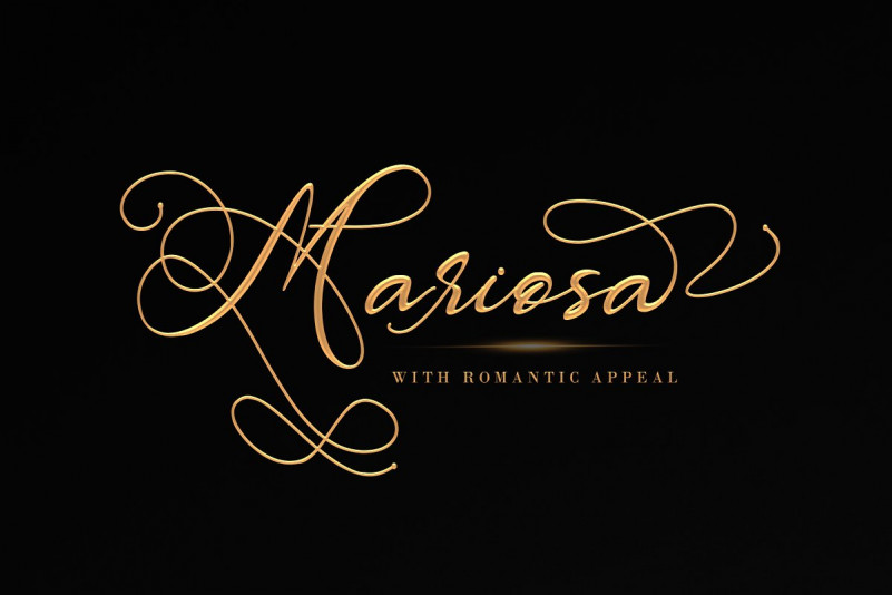 Mariosa Script Font