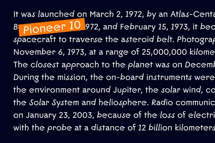 Pioneer 10 - Modern Sans Font