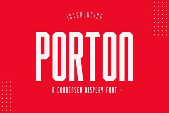 PORTON Display Font