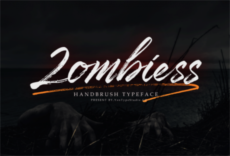 Zombies Hand Brush font
