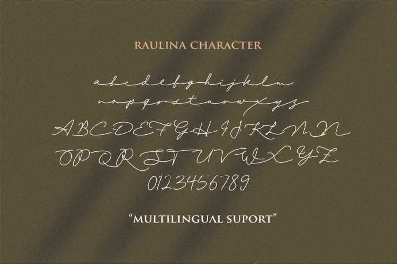 Raulina Signature Font