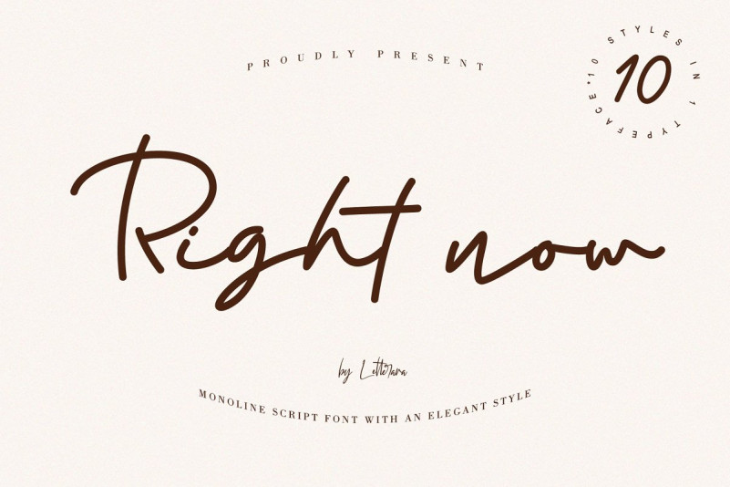 Right Now Signature Font