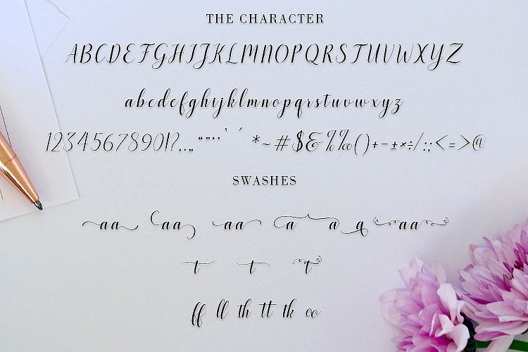 Santosa Calligraphy Font