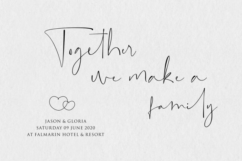 Singletone Signature Font