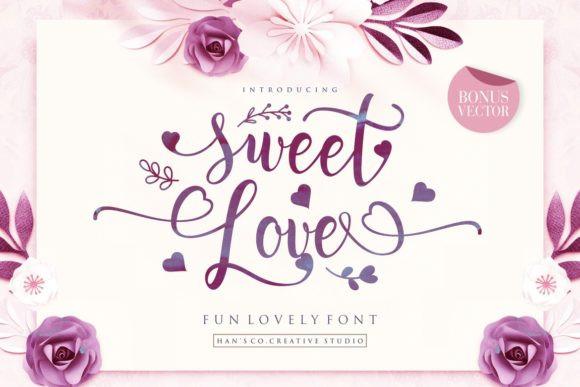 Sweet Love Calligraphy Font - Befonts.com  Love Calligraphy Font