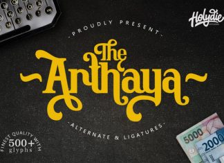 The Arthaya Display Font