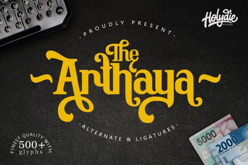 The Arthaya Display Font