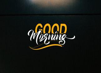 Good Morning Script Font