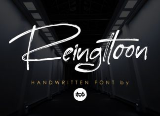 Reingttoon - Handwritten Brush Font