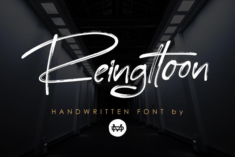 Reingttoon - Handwritten Brush Font