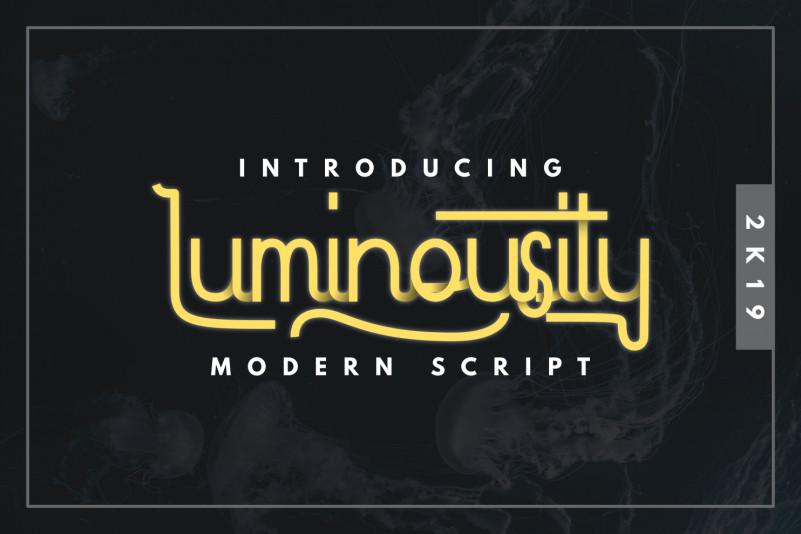 Luminousity - Modern Script Font