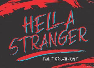 HELLA STRANGER Brush Font