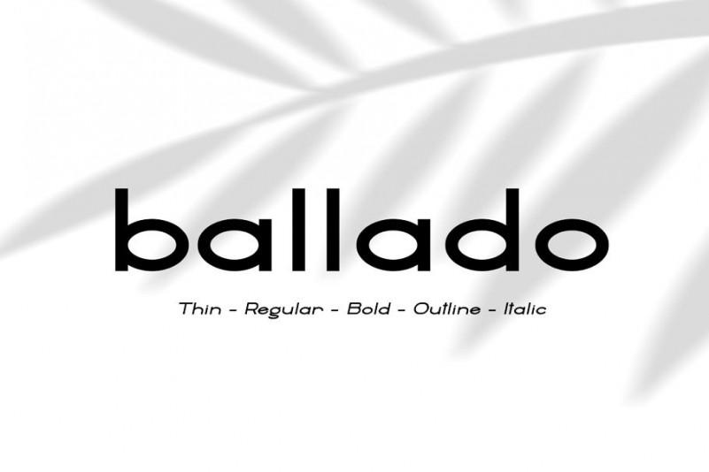 Ballado - Geometric Sans Font