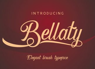 Bellaty Brush Scripts Font
