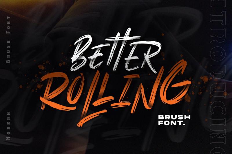 Better Rolling Brush Font