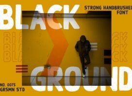 Black Ground Typeface