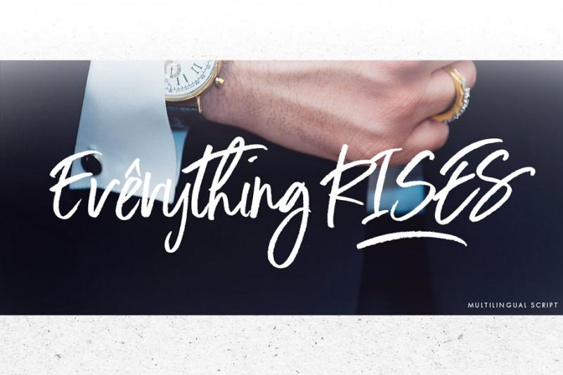 Everything RISES - Script Font
