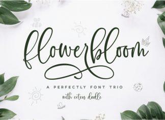 Flowerbloom Font Trio