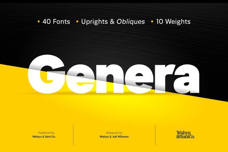 Genera Sans Font Family