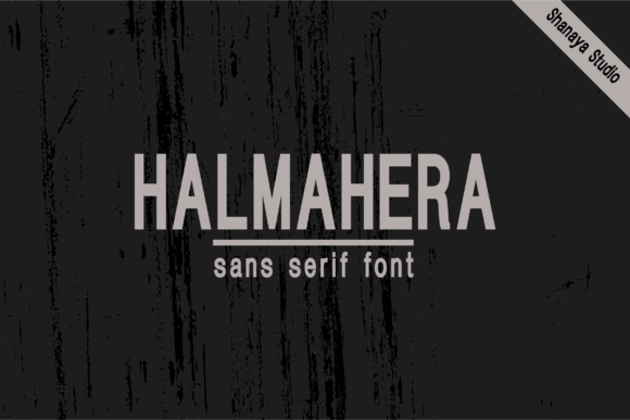 Halmahera Sans Serif Font Demo