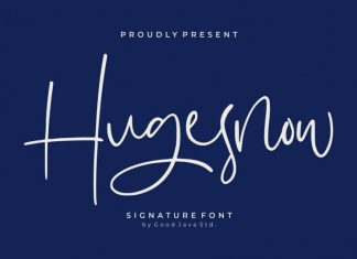 Hugesnow Signature Font