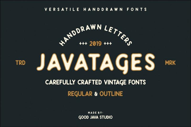 Javatages Bold Vintage Font