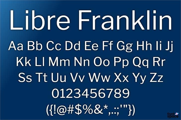 Libre Franklin Font Family