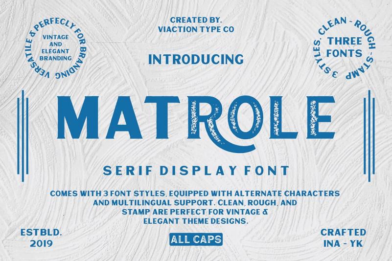 Matrole Display Font