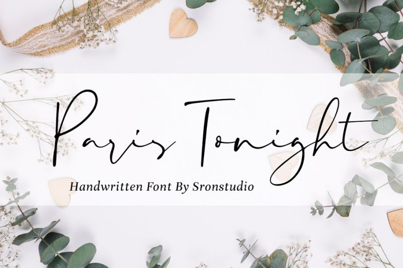 Paris Tonight Signature Font