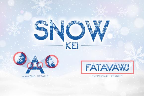 Snow Kei Typeface