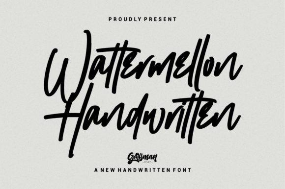 Wattermellon Signature Font