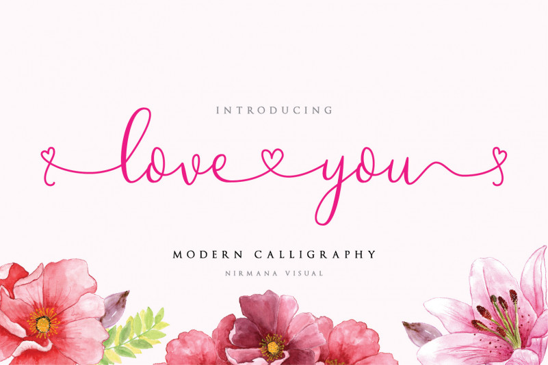 Loveyou Romantic Font