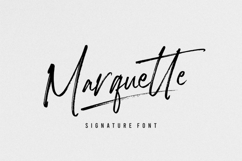 Marquette Signature Font