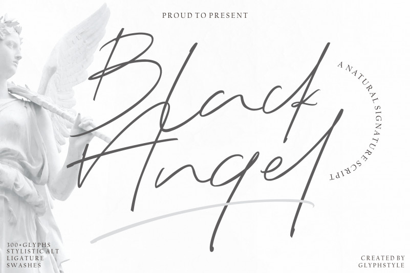 Black Angel - Signature Font