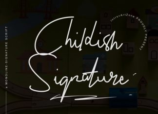 Childish Signature Font