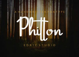 Phitton Handwritting Font